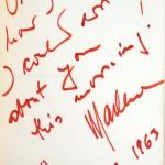 Marlene Dietrich's presentation inscription to Paul Scofield