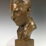 Bronze bust of C.S. Forester by Cynthia Drummond