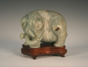 Chinese jade carving of an elephant
