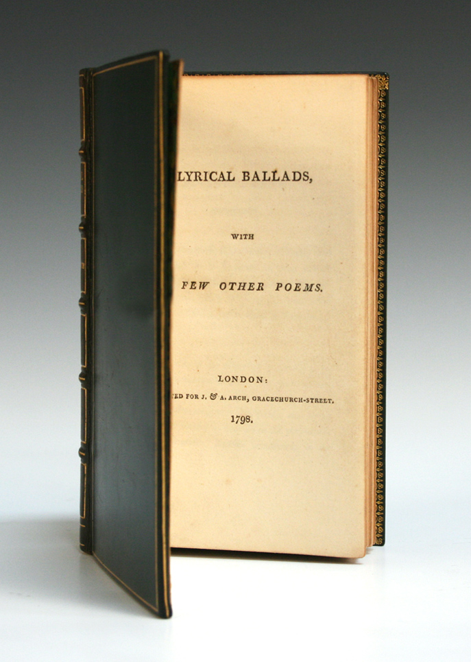 'Lyrical Ballads' by Wordsworth & Coleridge in Book ...