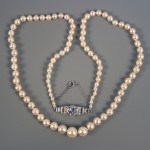 A graduated natural saltwater pearl necklace