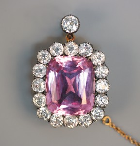 Pink Beryl Brooch sold at Toovey's