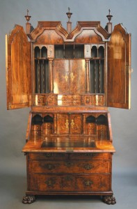 William & Mary bureau bookcase