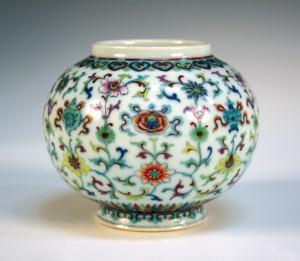 A Chinese doucai porcelain jar