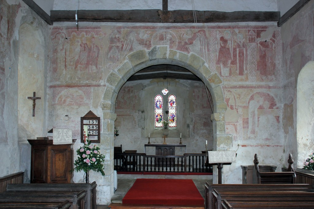 The medieval frescoes at St Botolph's, Hardham
