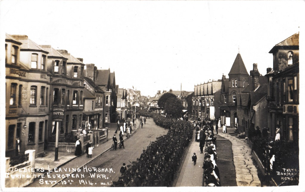 'Soldiers leaving Horsham during the European War September 10th 1914, No.1'