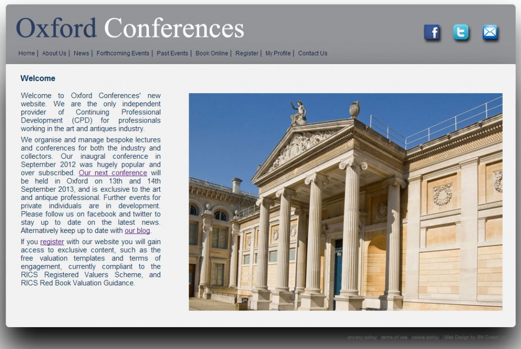 Oxford Conferences Website