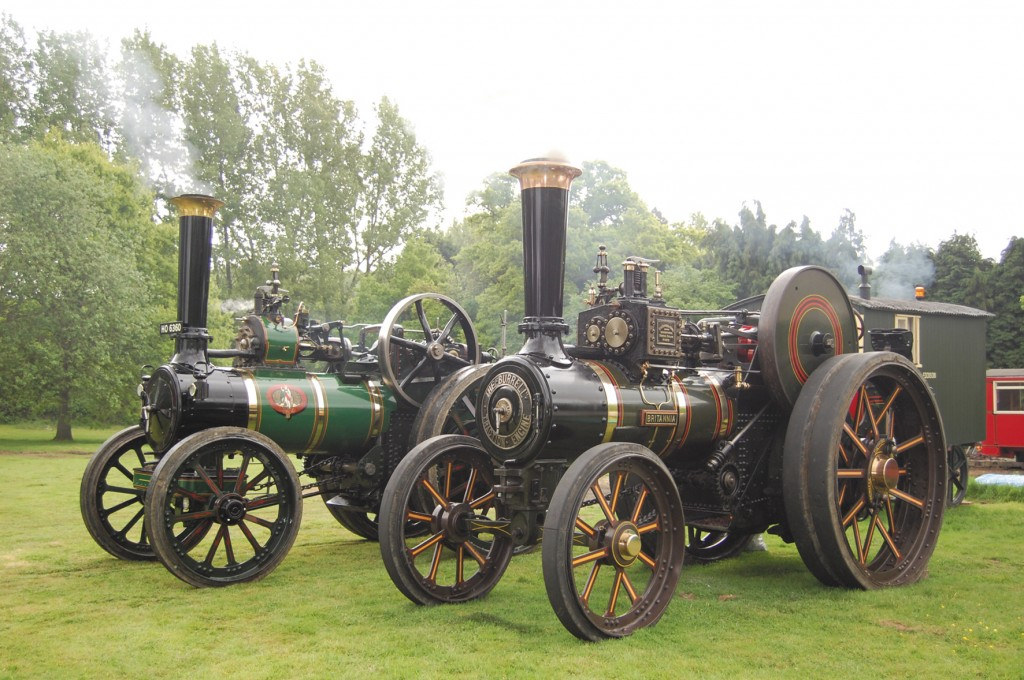 Neil Gough's former Marshall and Burrell steam traction engines