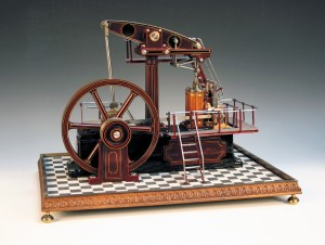 A hand-built steam model pump engine by the late Ron Wheele