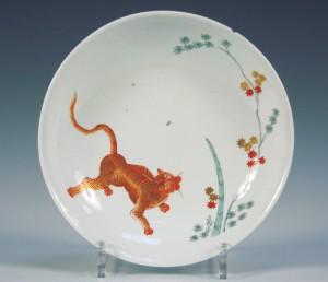 A Meissen porcelain circular saucer dish