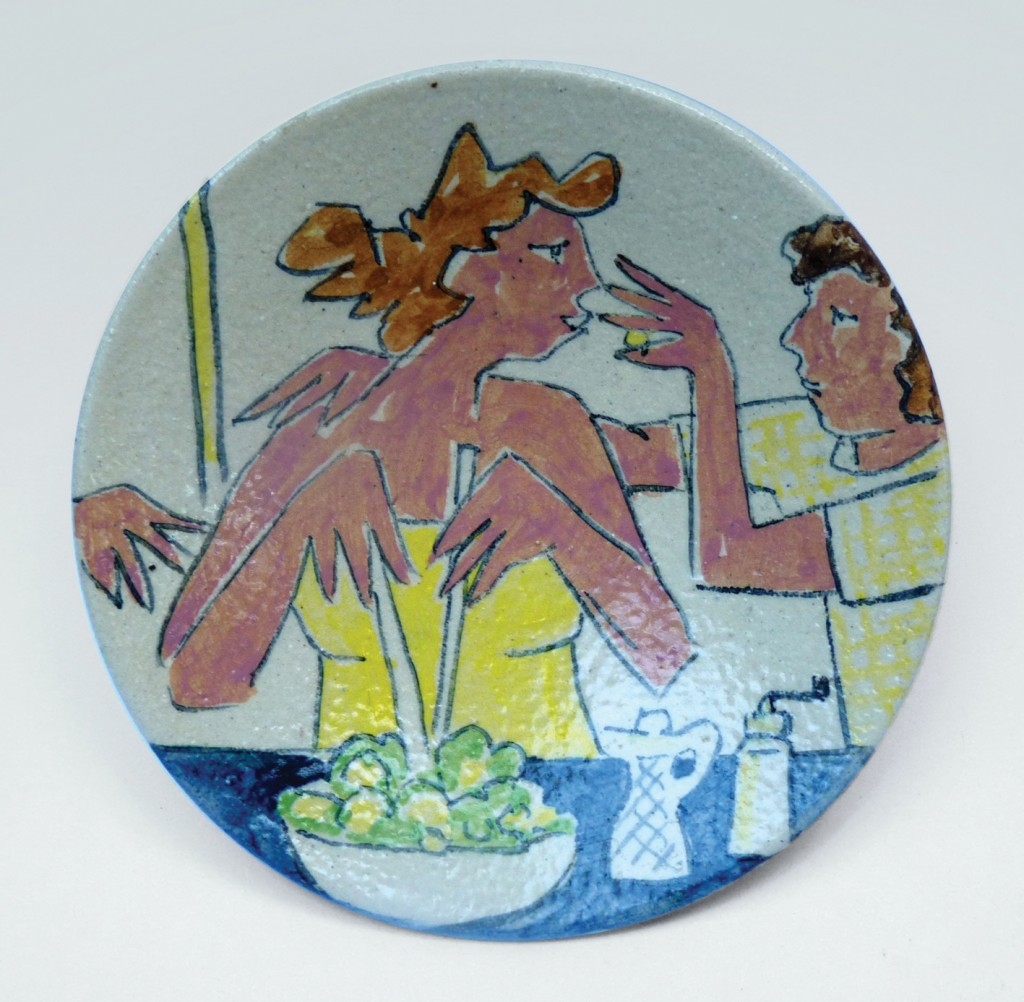 'Salad I (The excuse me)', thrown stoneware bowl by Josse Davis.