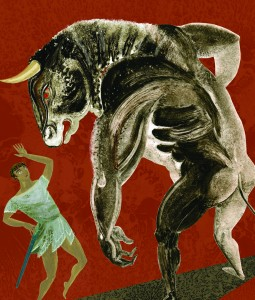 'Minotaur' Illustration from 'Greek Myths'