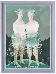 'Dryad I & Dryad II', oil painting by Sarah Young