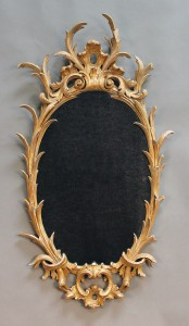George III giltwood wall mirror