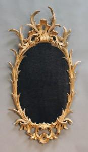 George III giltwood wall mirror