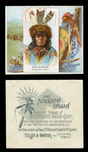 24 (of 50) Allen & Ginter extra large-size 'The American Indian' cigarette cards, blog.tooveys.com