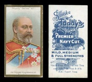 25 Taddy 'Royalty Series' cigarette cards, blog.tooveys.com