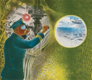 Eric Ravilious, Commander of a Submarine, Pallant House Gallery