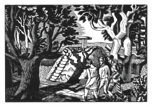 Eric Ravilious, Manor Gardens, 1927, Wood Engraving, Towner, Eastbourne