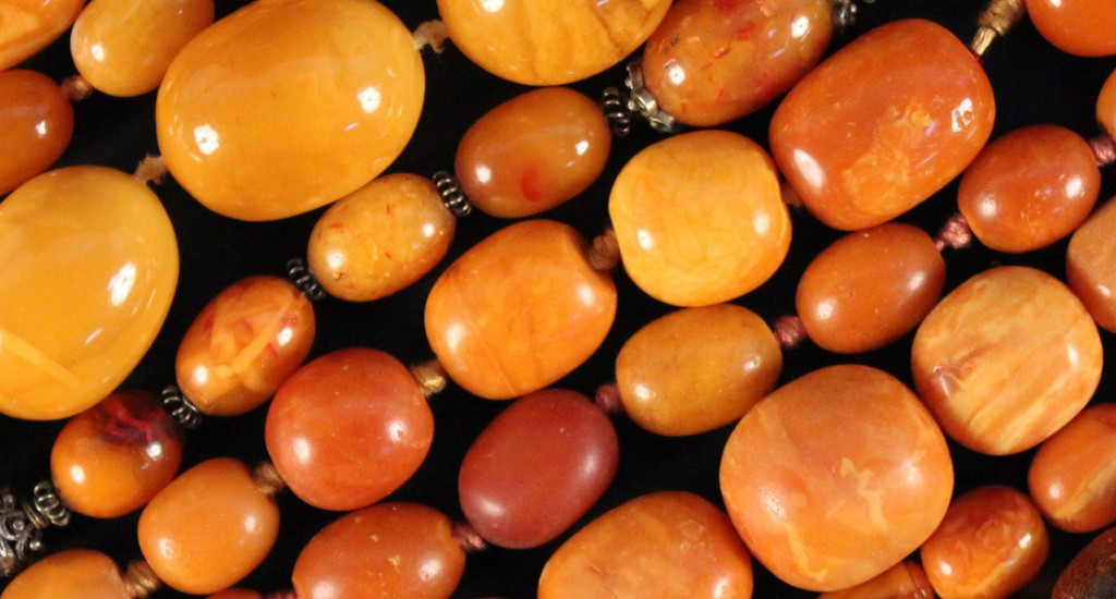 Detail of Amber Beads Sold Recently at Toovey's Auctions