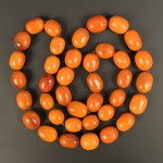 Amber bead necklace Lot 612 Jan14 Tooveys