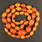 Amber bead necklace Lot 613 Jan14 Tooveys