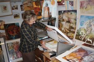 Alison Milner-Gulland in her studio