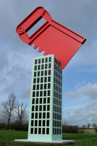 'City Cuts' corten steel and Polyurethane paint by Paul Cox