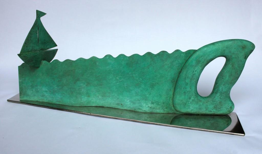 'Sea saw' bronze by Paul Cox
