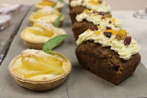 Apple Crumble Tarts and Carrot Cake at Tooveys Cafe