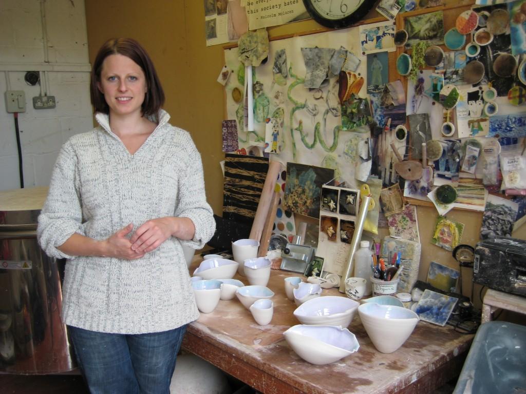 Claire Palastanga in her studio