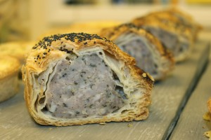 Homemade Sausage Rolls at Toovey's Cafe