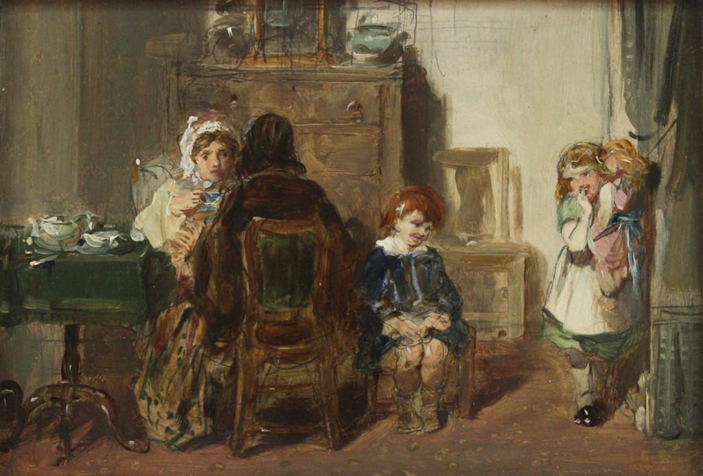 Thomas Faed oil sketch