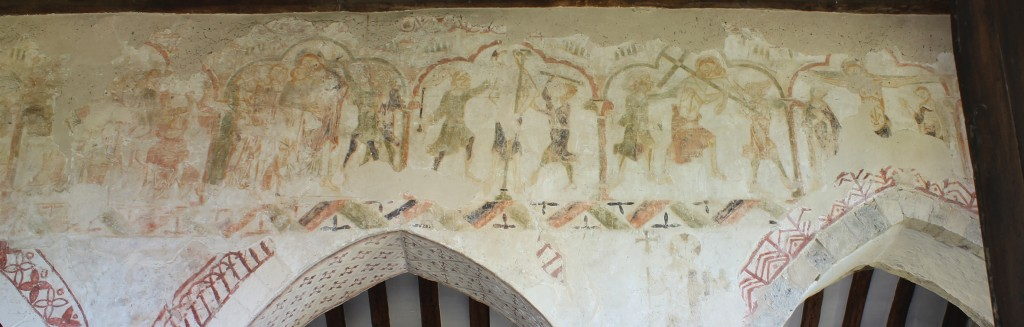 The 13th century medieval cycle of Easter frescoes at St Mary's