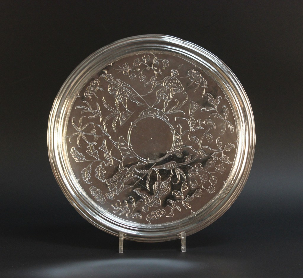 James II Silver Chinoiserie Footed Salver at Toovey's Auction