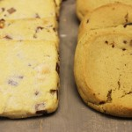 Chocolate chip shortbread and sour cherry cookies at Toovey's