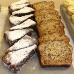 Gluten free chocolate cake slices and banana loaf at Toovey's