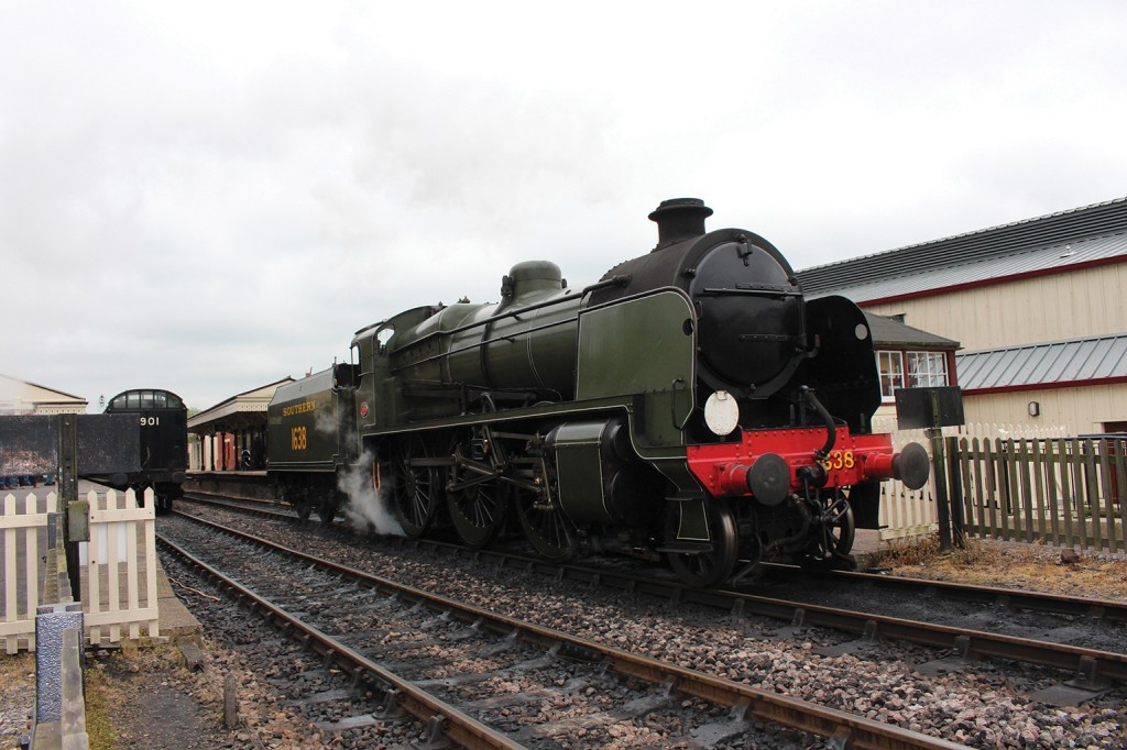 The Southern Railways U class 2-6-0 mogul steam locomotive, no. 1638