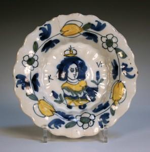 17thC Dutch Delft dish