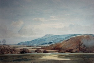Edwin-Harris-watercolour-Chanctonbury-Ring