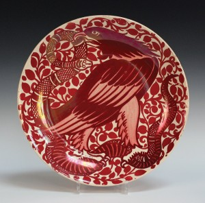 William de Morgan ruby lustre dish