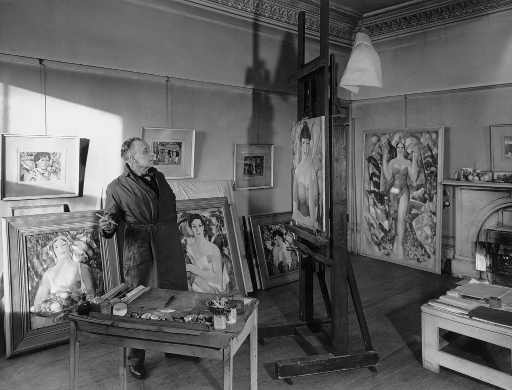 Fergusson in his studio