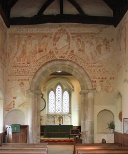 The wall paintings and chancel arch at St John the Baptist, Clayton