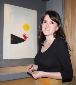 Katy Norris, Assistant Curator at Pallant House Gallery, with Lament for Ignacio Sánchez Mejías by Sir Terry Frost