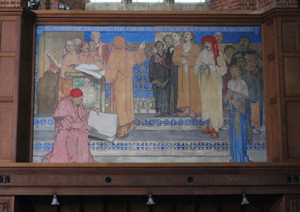 'St Ambrose Training the Choir in His Church in Milan A.D. 687'