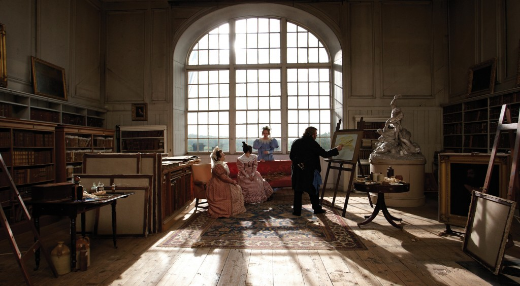 Mr. Turner – Timothy Spall, as J.M.W. Turner, paints in the Old Library © Simon Mein, Thin Man Films.