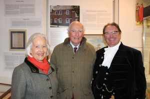 Sir Peter and Lady Hordern with the Lord High Sherriff of West Sussex, Jonathan Lucas
