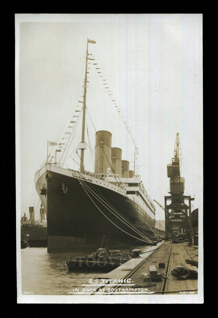 Titanic in Dock at Southampton ©Toovey's