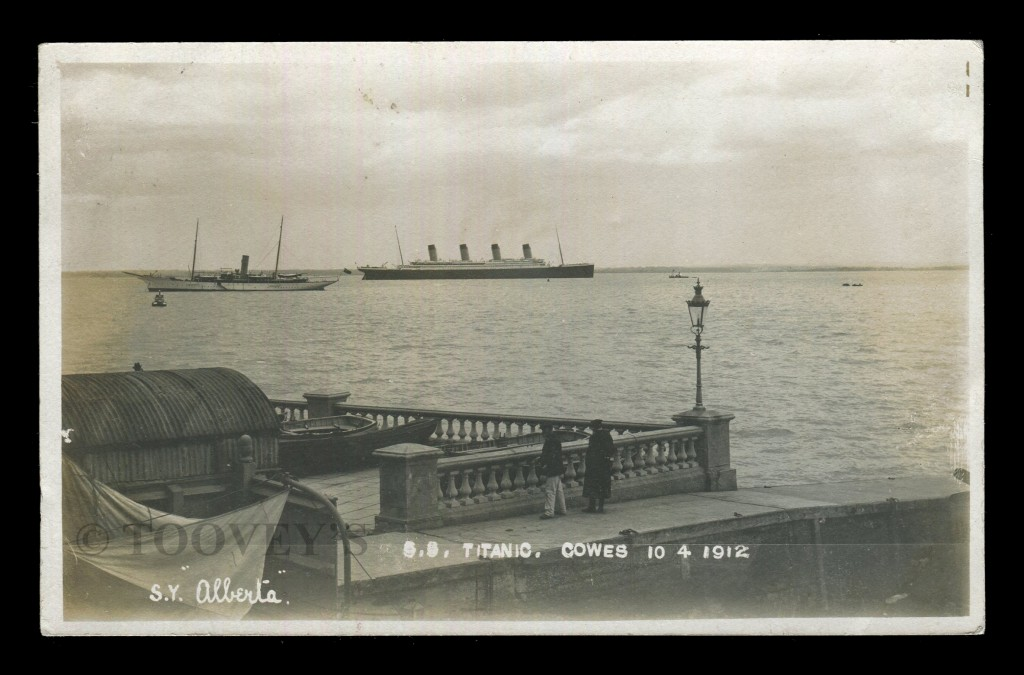 RMS Titanic off Cowes ©Toovey's