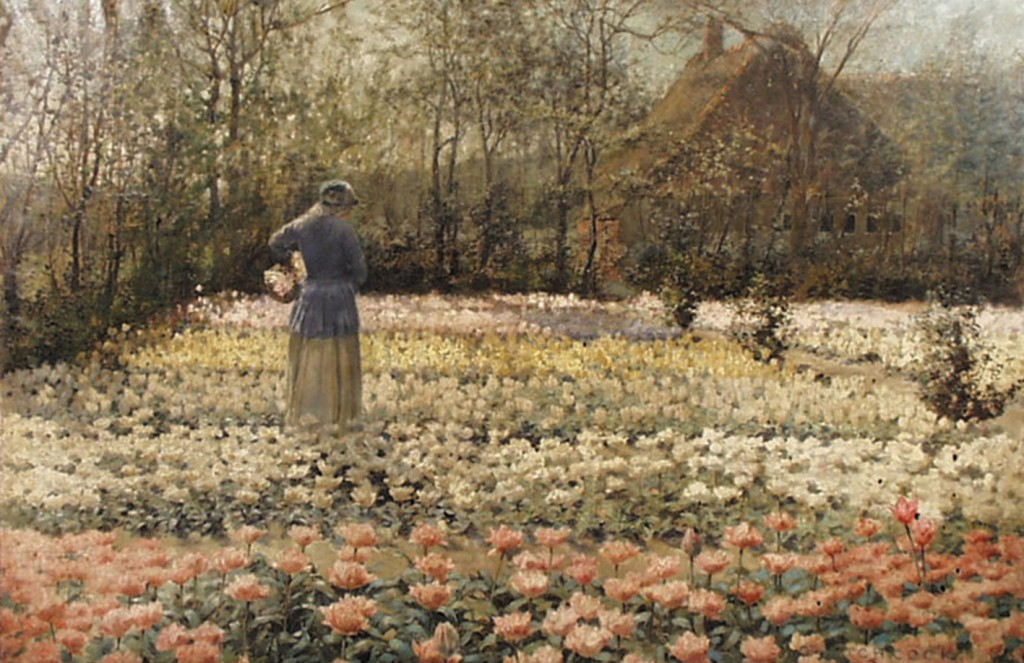 'La Cullure des Tulipes', oil on canvas by George Hitchcock, 1889